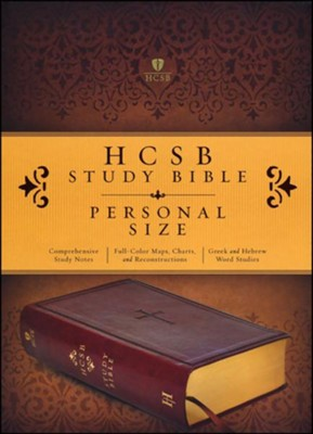 HCSB Study Bible, Personal Size, Brown Imitation Leather with Thumb Index  -