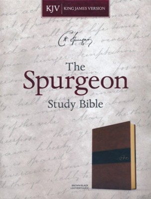 KJV Spurgeon Study Bible--soft leather-look, black/brown  -     Edited By: Alistair Begg