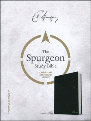 CSB Spurgeon Study Bible, Black Genuine Leather, Thumb-Indexed  -