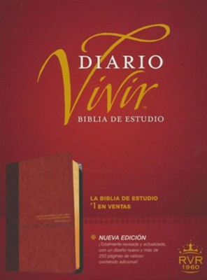 Biblia de estudio del diario vivir RVR60, DuoTono, Soft Imitation Leather, Tan  -     By: Tyndale