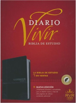 Biblia de estudio del diario vivir RVR60, DuoTono, Soft Imitation Leather, Onyx, With thumb index  -     By: Tyndale