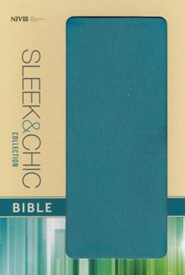 NIV Sleek and Chic Collection Bible, Flexcover, Surreal Teal  -