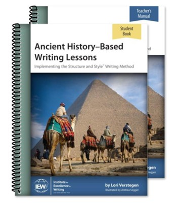 Ancient History-Based Writing Lessons Teacher/Student Combo  Pack (5th Edition)  -     By: Lori Verstegen