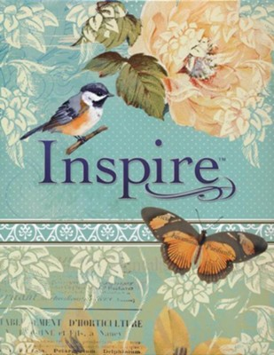 NLT Inspire Bible: The Bible for Creative Journaling, Teal  -