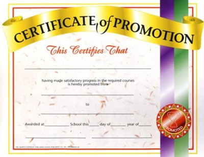 certificate of promotion pack of 30 christianbook com