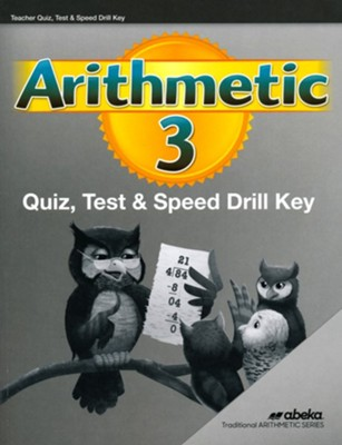 Arithmetic 3 Quizzes, Tests & Drills Keys   -