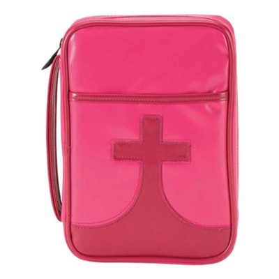 Youth Cross Bible Cover, Pink, Medium  -