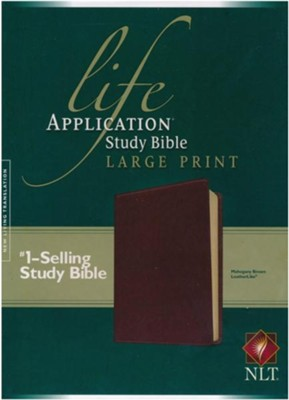 NLT Life Application Study Bible, Large Print Brown Leatherlike  -