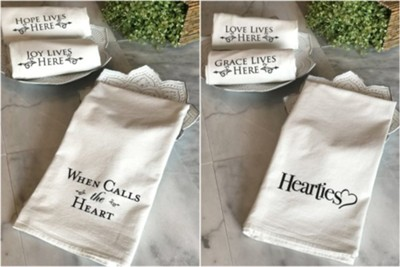 When Calls the Heart Tea Towels, Black (pkg. of 3)   -