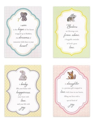 Cute and Cuddly, New Baby Cards, Box of 12  -