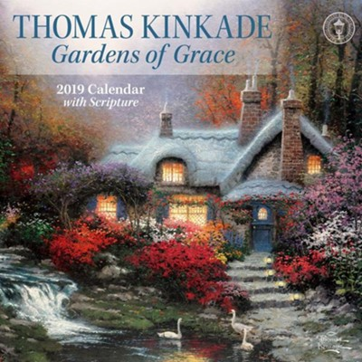 2019 Gardens of Grace Wall Calendar  -     By: Thomas Kinkade