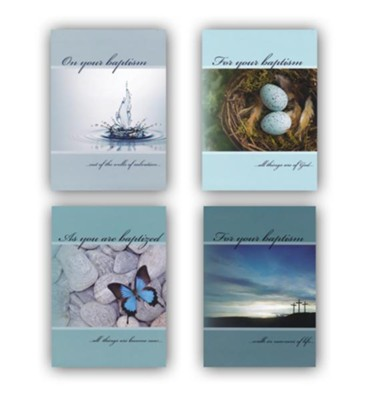 New Life Baptism Cards, Box of 12  -