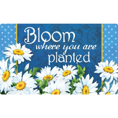 Bloom Where You Are Planted, Floor Mat  -     By: Janet Stever