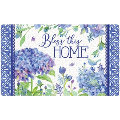 Bless This Home, Petals and Patterns, Mat  -     By: Rebecca Canale