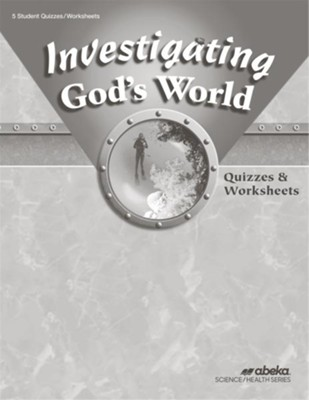 Investigating God's World (Grade 5) Quiz and  Worksheet Book (Unbound Edition)  -