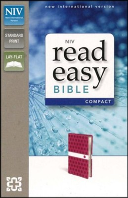 NIV ReadEasy Bible, Compact, Italian Duo-Tone, Hot Pink  -