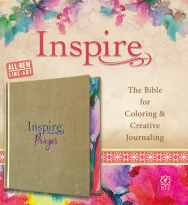 NLT Inspire Prayer Bible--soft leather-look, metallic gold over hardcover  -