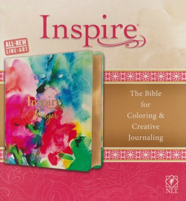 NLT Inspire Prayer Bible--soft leather-look, watercolors with gold foil accents  -