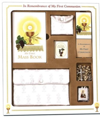 First Mass Book Premier Boxed Set, My First Eucharist Edition for Girls       -