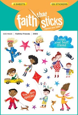 Faithful Friends Stickers  -     By: Tyndale