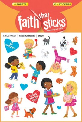 Cheerful Hearts Stickers  -     By: Tyndale