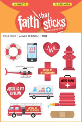 Jesus Is My Lifeline Stickers  -     By: Tyndale