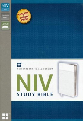 NIV Study Bible, White  -     Edited By: Kenneth L. Barker