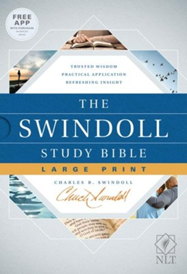 NLT The Swindoll Study Bible Large Print Hardcover  -     By: Charles R. Swindoll
