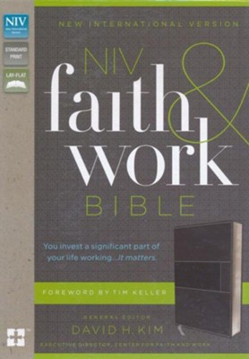 NIV Faith and Work Bible--soft leather-look, charcoal  -     By: Christianity Today International, Tim Keller