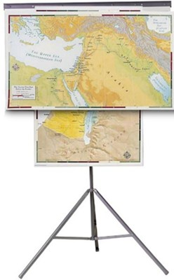 Abingdon Bible Land Map Set with Tripod   -