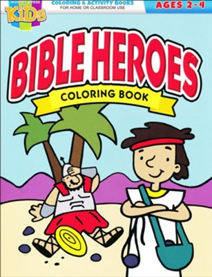Bible Heroes Coloring Book--ages 2-4  -