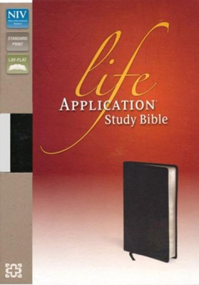 NIV Life Application Study Bible, Top Grain Leather Black  -