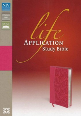 NIV Life Application Study Bible, Imitation Leather, Honeysuckle Pink  -
