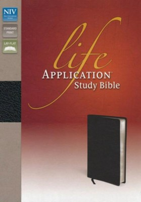 NIV Life Application Study Bible, Bonded Leather, Distressed Black  -