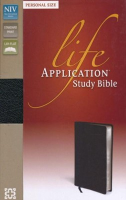 NIV Life Application Study Bible, Bonded Leather, Black  Personal Size  -