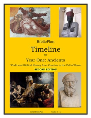 BiblioPlan Timeline for Year One: Ancient History (2nd  Edition)    -