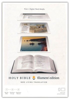 NLT Filament Bible, Gray Clothbound Hardcover  -