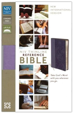 NIV Thinline Reference Bible, Lavender Duo-Tone  -