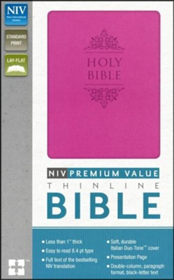 NIV Premium Value Thinline Bible, Imitation Leather, Orchid  -