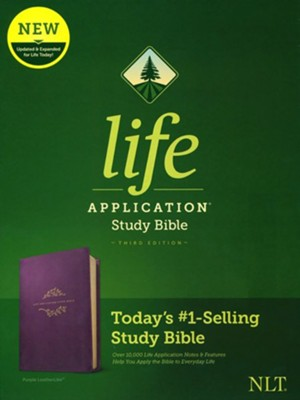 NLT Life Application Study Bible, Third Edition--soft leather-look, purple  -