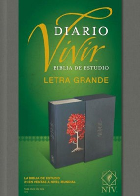 NTV Biblia de estudio del diario vivir, letra grande, NTV Large-Print Life Application Study Bible--hardcover, cloth gray (indexed)  -