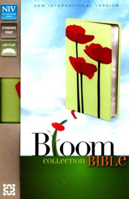 NIV Thinline Bloom Collection Bible, Italian Duo-Tone, Poppies  -