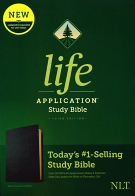NLT Life Application Study Bible, Third Edition--Value Edition, Black Genuine Leather  -