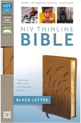 NIV Thinline Bible, Italian Duo-Tone, Toffee  -     By: Zondervan Bibles