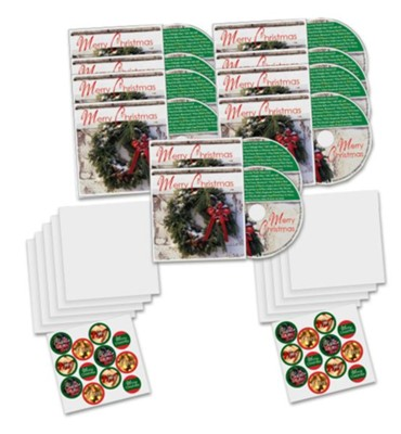 Merry Christmas CD Greeting Cards, Pack of 10   -