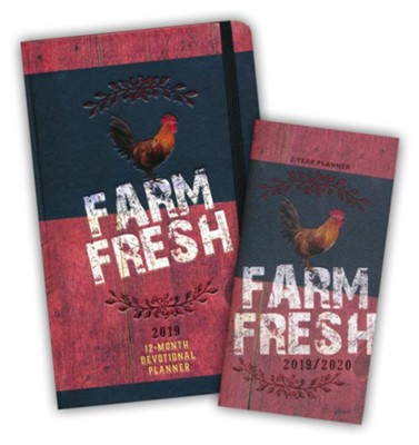 Farm Fresh 2-Year Pocket Planner & 2019 Farm Fresh Devotional   Planner, 2-Pack  -