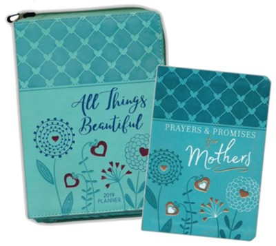 2019 All Things Beautiful Planner & Prayers and Promises  For Mothers, 2-Pack  -