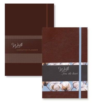 2019 Write Executive Planner & Write...from the Heart Journal,  2-Pack, Nutmeg  -