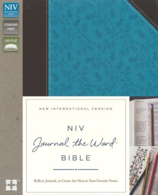 NIV Journal the Word Bible--soft leather-look, chocolate/turquoise  -
