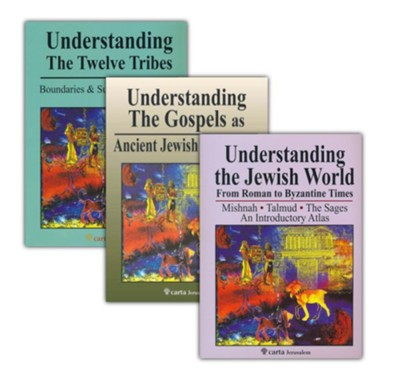 3-Book Atlas Collection on Jewish History   -
